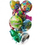 Balloon Bouquet-12 Mylar