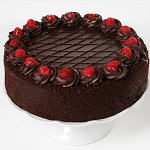 Chocolate Raspberry Ganache Cake
