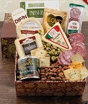 Crackers and Cheese Classic Collection Gift Basket