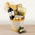 Holiday Drum and Red Wine Basket
