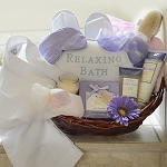Lavender and Rose Spa Gift Basket