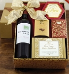 Red Wine and Snacks Gift Basket