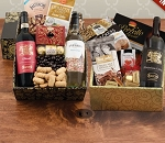 Triple Taste of Italy Wine and Gourmet Double Decker Gift Basket