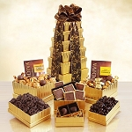 Ultimate Golden Godiva Chocolate Tower