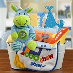 Welcome Home Baby Boy Gift Basket Large