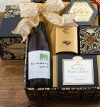 White Wine and Snacks Gift Basket