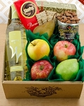 White Wine, Fruit and Snacks Gift Basket