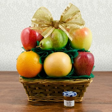 Fruit and Honey Gift Basket