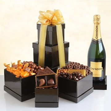Sparkling Napa Chandon and Godiva Chocolates