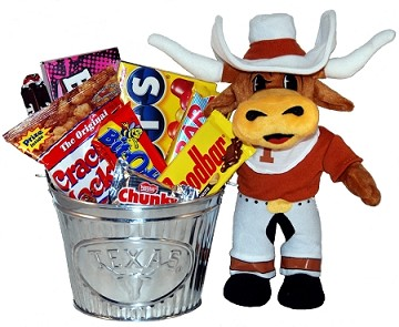University of Texas Snack Bucket Gift Basket