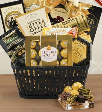 VIP Golden Gift Basket