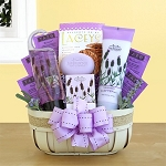 Fields of Lavender Spa Gift Basket