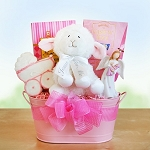 Girl Christening Blessings Gift Basket
