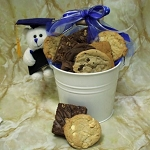 Graduation Bucket and Bear Gift Basket
