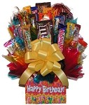 Happy Birthday Box Candy Gift Bouquet