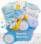 A Special Delivery Gift Basket-Boy