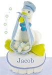 Stork Nest One Tier Diaper Cake-Boy