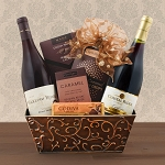 Pinot Noir Two Bottle Wine Gift Basket