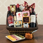 Cabernet Sauvignon Red Wine and Cheese Picnic Gift Basket