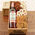 White  Zinfandel and Snacks Gift Basket