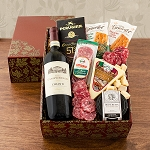 Italian Red Wine Antipasta Gift Basket