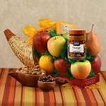 Fruit Filled Horn of Plenty Gift Basket
