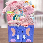 Baby Girl First Wardrobe Gift Basket