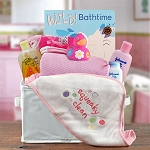 Baby Girl Bath Time Gift Basket