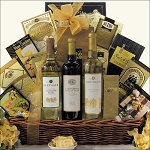 BERINGER CALIFORNIA COLLECTION TRIO: WINE GIFT BASKET