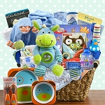 Fabulous Family Baby Boy Gift Basket