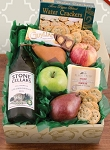Fruit, Cheese and Stone Cellers Chardonnay Wine Gift Basket
