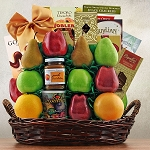 Fruit and Kosher Food Gift Basket