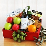 Organic Fruit and California Cabernet Sauvignon Wine Basket