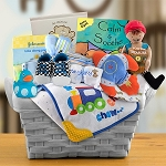 Pampered Baby Boy Gift Basket
