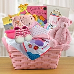 Pampered Baby Girl Gift Basket