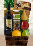 Sea of Galilee Fruit and Red Wine Kosher Gift Basket