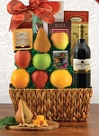 Fruit and Merlot Wine Gift Basket
