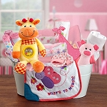 Welcome Home Baby Girl Gift Basket Large