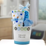 Welcome Little One Baby Boy Gift Basket