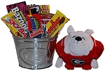 University of Georgia Snack Bucket Gift Basket