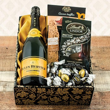 Champagne and Chocolates Truffles Gift Basket