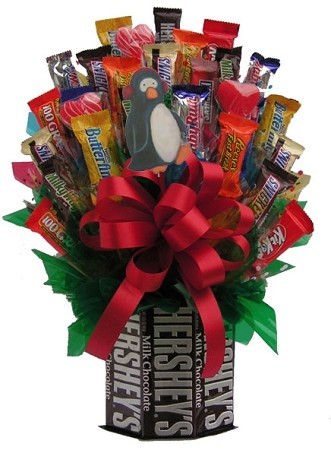 Christmas Holiday Chocolates & More Bouquet