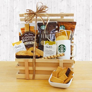 Country Coffee Crate Basket