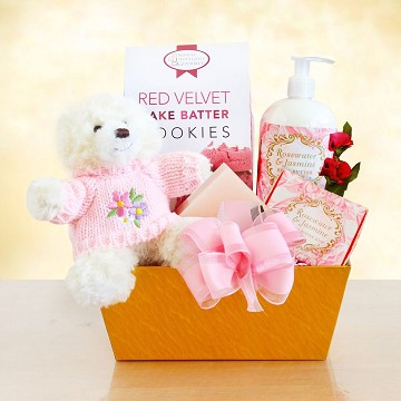Mom's Rose Gold Spa Gift Basket