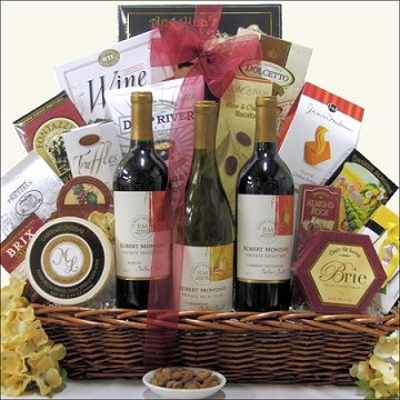 ROBERT MONDAVI PRIVATE SELECTION TRADITIONAL TRIO: WINE GIFT BASKET