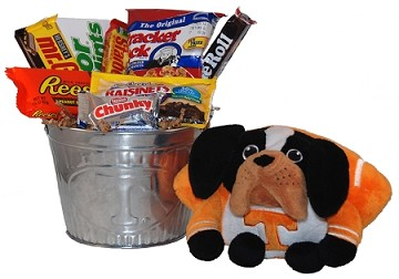 University of Tennessee Snack Bucket Gift Basket