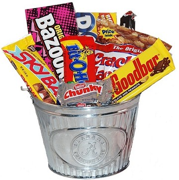 University of Alabama Snack Bucket Gift Basket