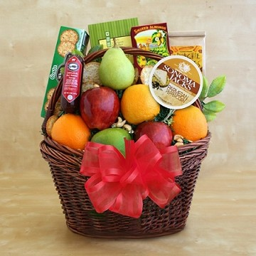 CA Bountiful Fruitful Greetings Basket Deluxe