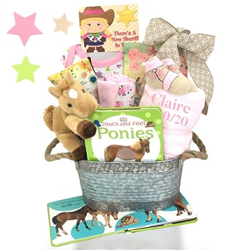 Cowgirl Baby Gift Basket