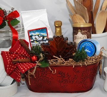 Christmas Morn Breakfast Basket deluxe